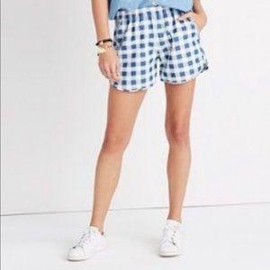 Madewell gingham shorts